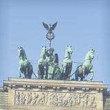 BERLIN TYSKLAND - APRIL 11, 2014: Quadrigaen Royaltyfri Fotografi