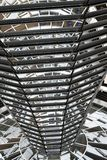 BERLIN TYSKLAND - December 17 2017: Inre sikt av kupolen i Reichstag byggnad Royaltyfria Bilder