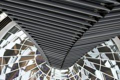 BERLIN TYSKLAND - December 17 2017: Inre sikt av kupolen i Reichstag byggnad Fotografering för Bildbyråer