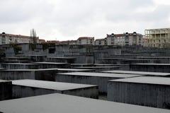 BERLIN TYSKLAND - December 17 2017: Minnesmärke till de mördade judarna av Europa Arkivbilder
