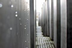 BERLIN TYSKLAND - December 17 2017: Minnesmärke till de mördade judarna av Europa Arkivfoton