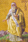 BERLIN TYSKLAND, FEBRUARI - 14, 2017: Freskomålningen av profeten Isaiah i den Herz Jesu kyrkan Royaltyfria Bilder
