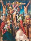 BERLIN TYSKLAND, FEBRUARI - 16, 2017: Målningen av avlagring av korset i kyrkliga Marienkirche av den okända konstnären av 16 cen Arkivbild