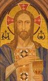 BERLIN TYSKLAND, FEBRUARI - 16, 2017: Mosaiken av Jesus Christ i evengelical kyrka för St Pauls Arkivfoto