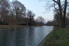 BERLIN TYSKLAND - JANUARI 14, 2017: Tiergarten Arkivfoton