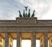 BERLIN TYSKLAND - JULI 2015: Brandenburg port i Berlin i Germa Fotografering för Bildbyråer