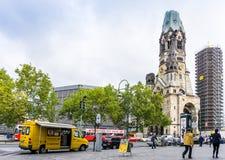 BERLIN TYSKLAND Oktober 7: Typisk gatasikt Oktober 7, 2016 Royaltyfri Fotografi