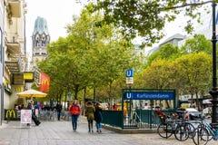 BERLIN TYSKLAND Oktober 7: Typisk gatasikt Oktober 7, 2016 Arkivbilder