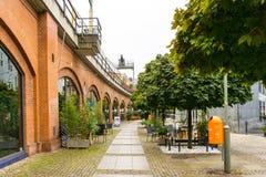 BERLIN TYSKLAND Oktober 7: Typisk gatasikt Oktober 7, 2016 Royaltyfria Foton
