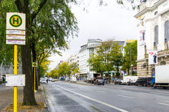 BERLIN TYSKLAND Oktober 7: Typisk gatasikt Oktober 7, 2016 Royaltyfri Bild