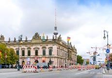 BERLIN TYSKLAND Oktober 8: Typisk gatasikt Oktober 8, 2016 Arkivfoto