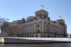 berlin tyskparlament royaltyfria bilder
