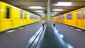 Berlin U-Bahn Stock Photo