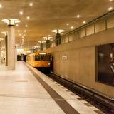 The Berlin U-Bahn is a rapid transit railway in Berlin, Germany Royalty Free Stock Photo