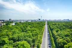 Berlin and the Under den Linden Boulevard Stock Photography
