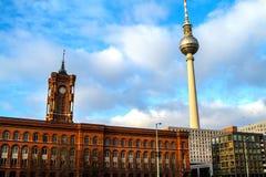 berlin urząd miasta czerwień fotografia stock