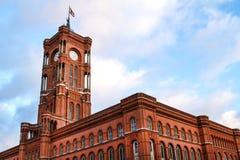 berlin urząd miasta czerwień zdjęcia stock