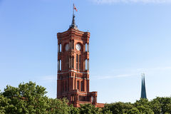 berlin urząd miasta rathaus rotes s obrazy stock