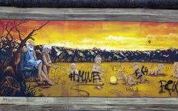 berlin vägg royaltyfria bilder