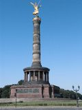 Berlin Victory Column. The Victory Column is called Golden Lizzy in Berlin, Germany Royalty Free Stock Image