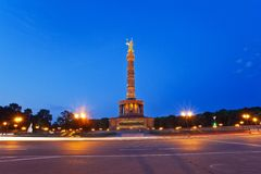Berlin Victory Column Arkivfoto