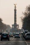 Berlin Victory Column in Berlijn (Duitsland) Stock Foto's