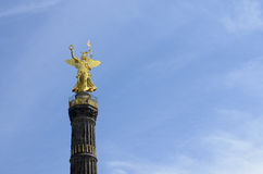 Berlin Victory Column with golden statue Royalty Free Stock Photo
