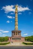 Berlin Victory Column monument in Tiergarten park, Berlin,  Stock Images