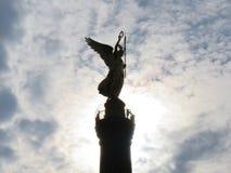 Berlin Victory Column-Schattenbild Lizenzfreie Stockfotografie