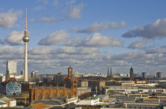 Berlin view. From French Cathedral's view platform, horizontal align image Stock Images