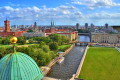 Berlin view - HDR royalty free stock images