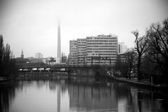 Berlin, view of the spree river Royalty Free Stock Photos