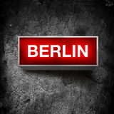 Berlin vintage light display Stock Image