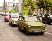 Berlin - Vintage Trabant cars advertising the Trabi Museum Stock Image