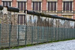 Berlin wall. Remains of historic Berlin Wall in Berlin, Germany Royalty Free Stock Photography