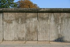 Berlin wall. Close up of the concrete slabs Royalty Free Stock Photos