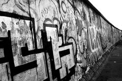 Berlin Wall. The Berlin wall has seperated a lot of Berlins for a ery long time. When you go there these days it's still possible to see the differences between Royalty Free Stock Photos