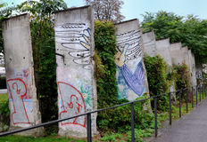 Berlin Wall. Ruins of the Berlin wall in a commemotaritve park Stock Images