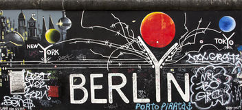 berlin wall ilustracji