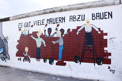 Berlin wall art stock images