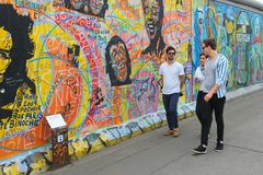 Berlin wall art Royalty Free Stock Photo