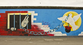 Berlin Wall artwork Stock Photography