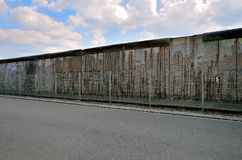 The Berlin Wall (Berliner Mauer) in Germany. Berliner wall, barrier constructed in 1961, that completely cut off West Berlin from East Berlin, demolished in Royalty Free Stock Photos