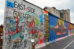 The Berlin Wall (Berliner Mauer) in Germany Stock Image