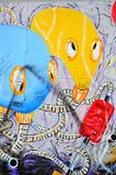The Berlin Wall (Berliner Mauer) in Germany. BERLIN, GERMANY - MAY 2, 2014: The Berlin Wall (Berliner Mauer) in Germany. Colour graffitti on the wall, barrier Royalty Free Stock Photo
