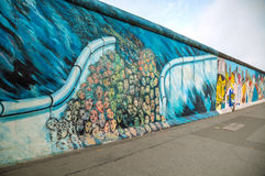 The Berlin wall (Berliner Mauer) with grafitti Stock Image