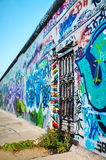 The Berlin wall (Berliner Mauer) with grafitti Royalty Free Stock Image