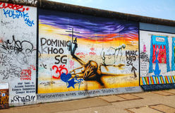 The Berlin wall (Berliner Mauer) with grafitti Royalty Free Stock Photography