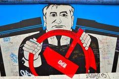 Berlin Wall (berlineren Mauer) i Tyskland Royaltyfria Bilder