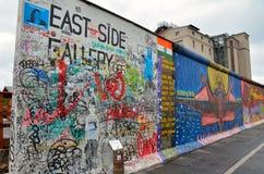Berlin Wall (berlineren Mauer) i Tyskland Fotografering för Bildbyråer